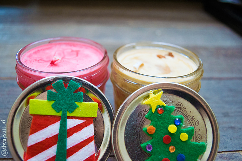 Crafty Candles. Photo Credit: Mechelle Avey. Introvert Life: 4 Quick and Easy DIY Gifts. Alwaysuttori.com