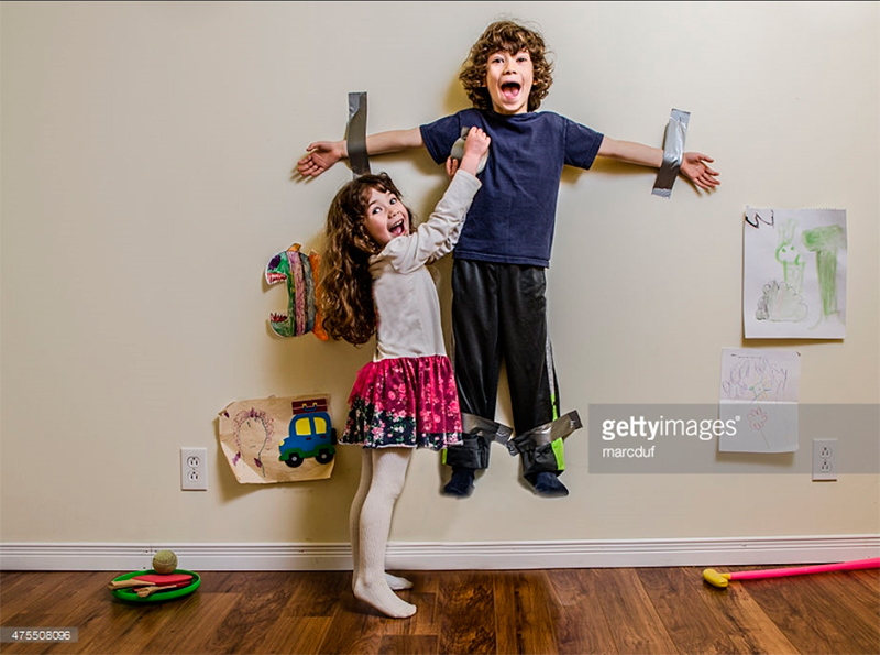 Kid Being Duct-taped to the Wall. Photo Credit: Marc Duf -47508096. gettyimages.com. Part 2. Surviving 2 INTJ Kids. Alwaysuttori.com