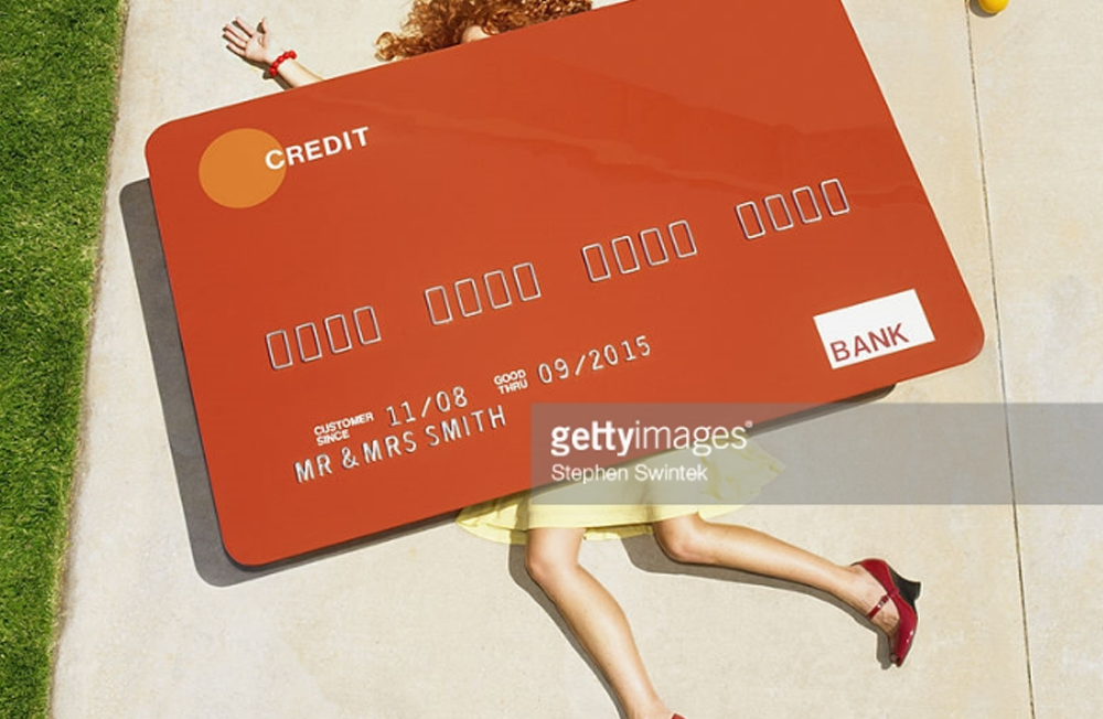 Woman crushed by credit card