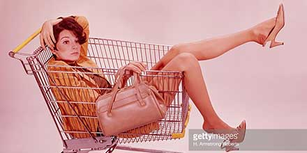 Women in Shopping Cart