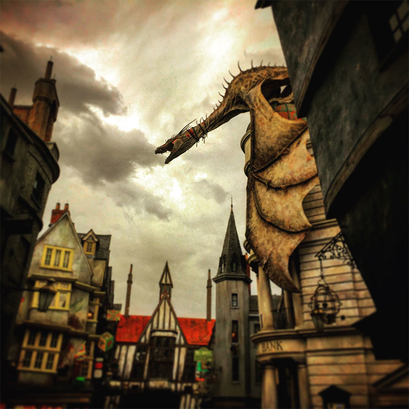 Gringotts Bank. 2015. Photo Credit: I'mari Avey. 2015. All RIghts Reserved.