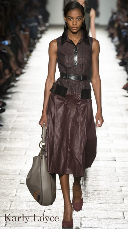 Model: Karly Loyce, Bottega Veneta Spring 2017 Ready-to-Wear, via Vogue.com