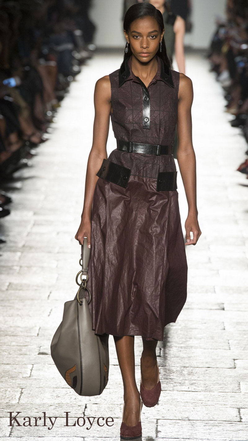 Model: Karly Loyce, Bottega Veneta Spring 2017 Ready-to-Wear, via Vogue.com