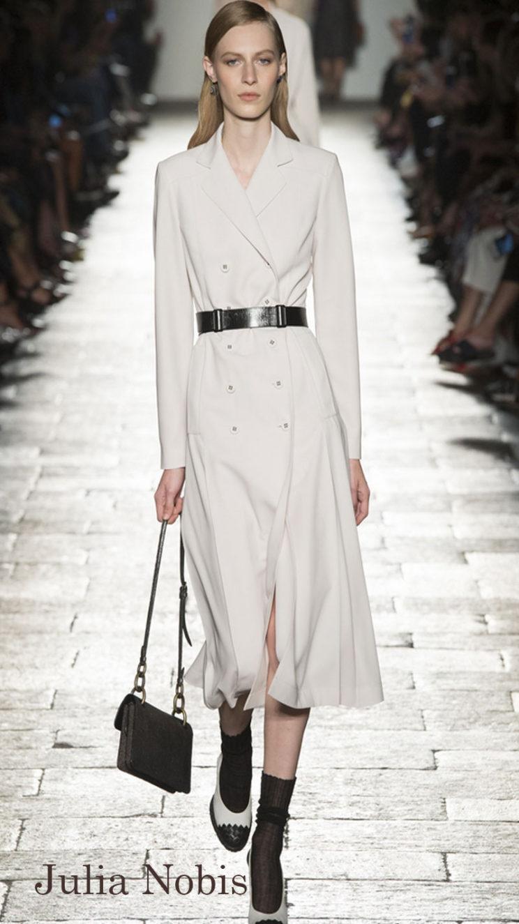 Model: Julia Nobis, Bottega Veneta Spring 2017 Ready-to-Wear, via Vogue.com