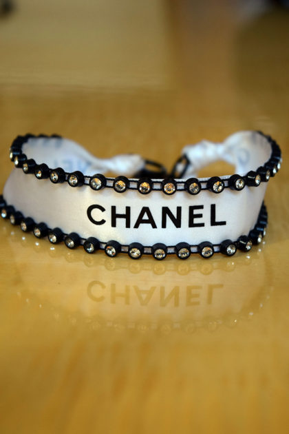 Chanel Ribbon D-I-Y Choker. Finished necklace. Alwaysuttori.com. 2016.