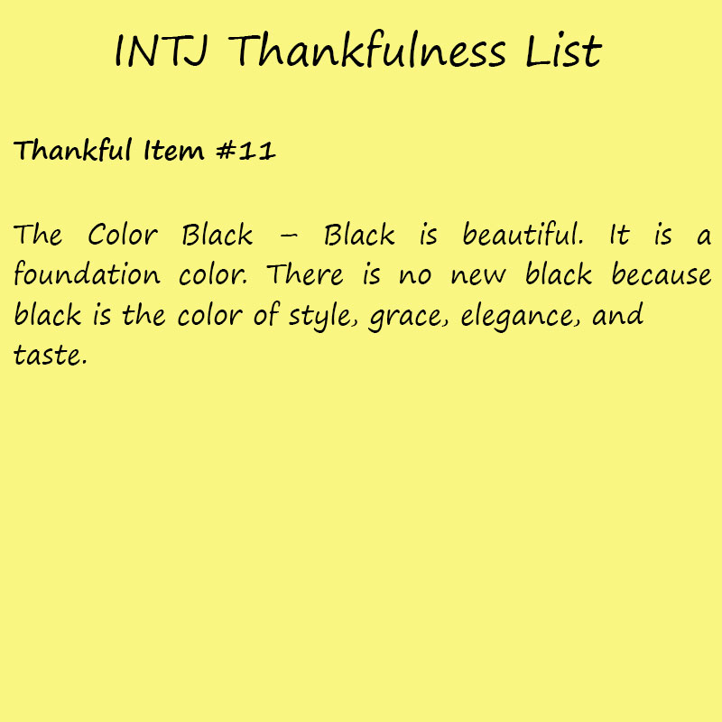 Introvert Life: The Thankful INTJ. Thankful -11