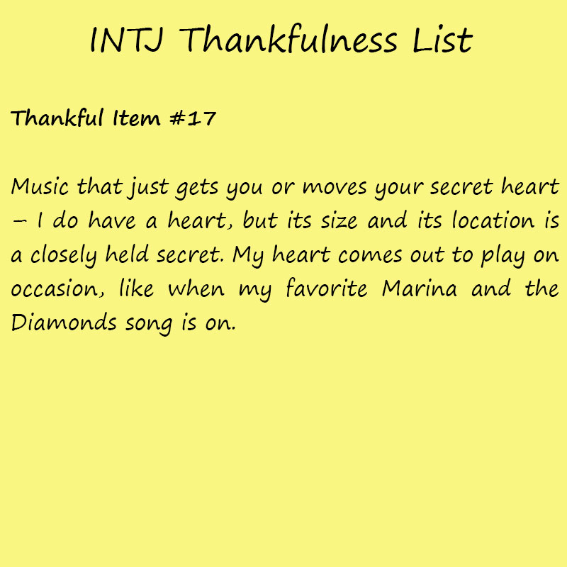 Introvert Life: The Thankful INTJ. Thankful -17