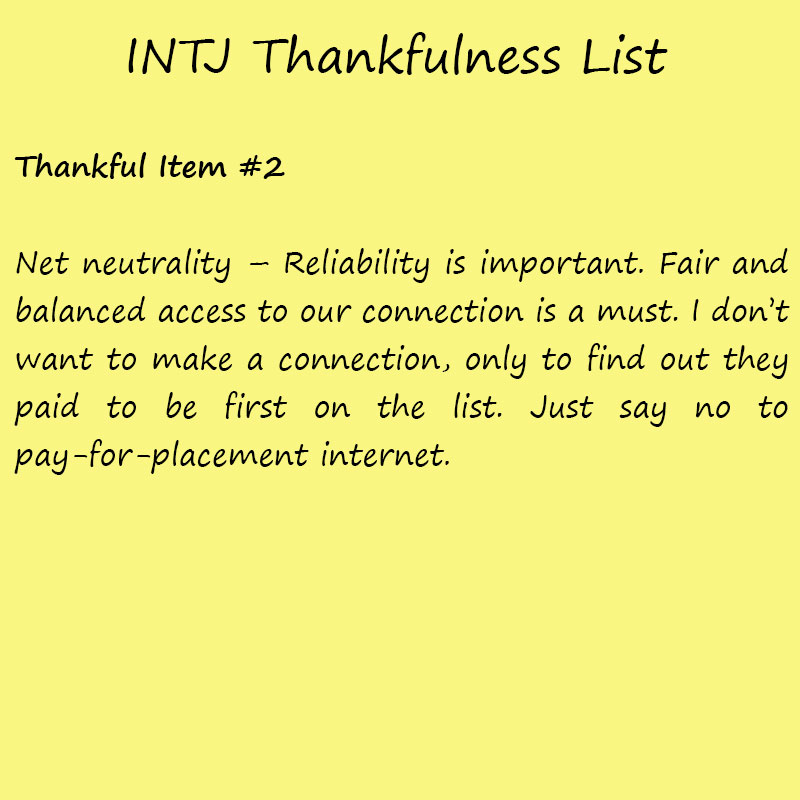 Introvert Life: The Thankful INTJ. Thankful 2