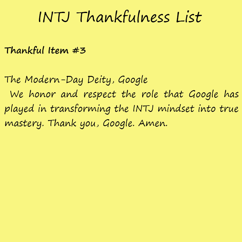 Introvert Life: The Thankful INTJ. Thankful3