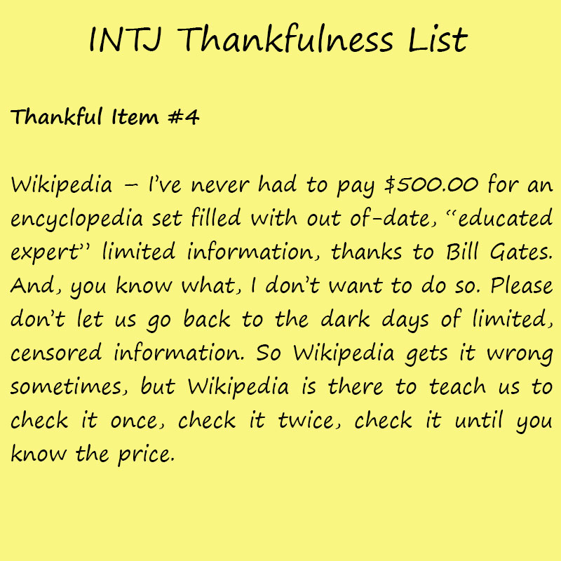 Introvert Life: The Thankful INTJ. Thankful-4