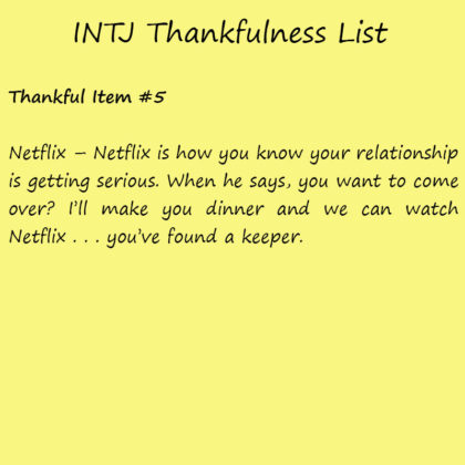 Introvert Life: The Thankful INTJ. Thankful-5
