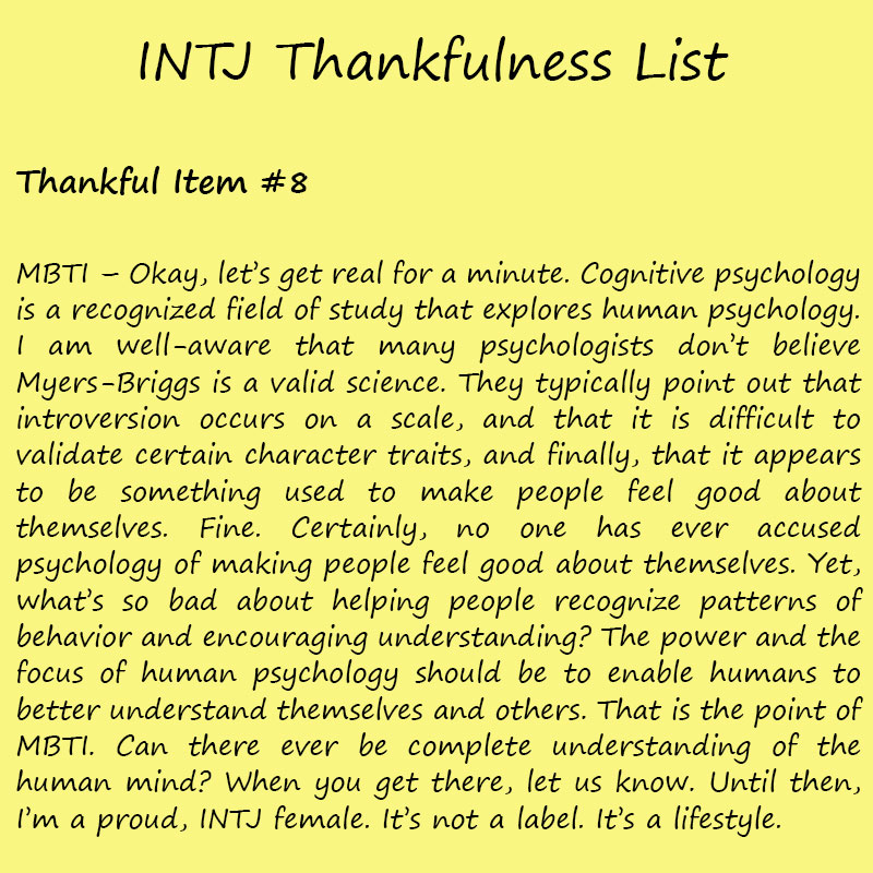 Introvert Life: The Thankful INTJ. Thankful-8