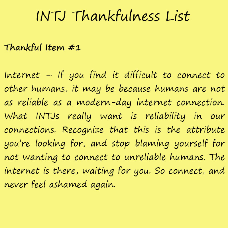 Introvert Life: The Thankful INTJ. Thankful1