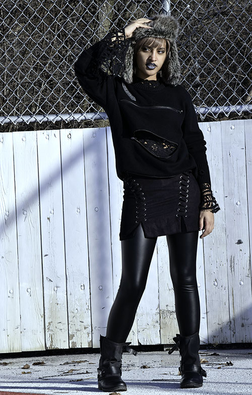 Spring Transition Fashion: Gothic Punk. Photo Credit: Mechelle Avey. Alwaysuttori.com