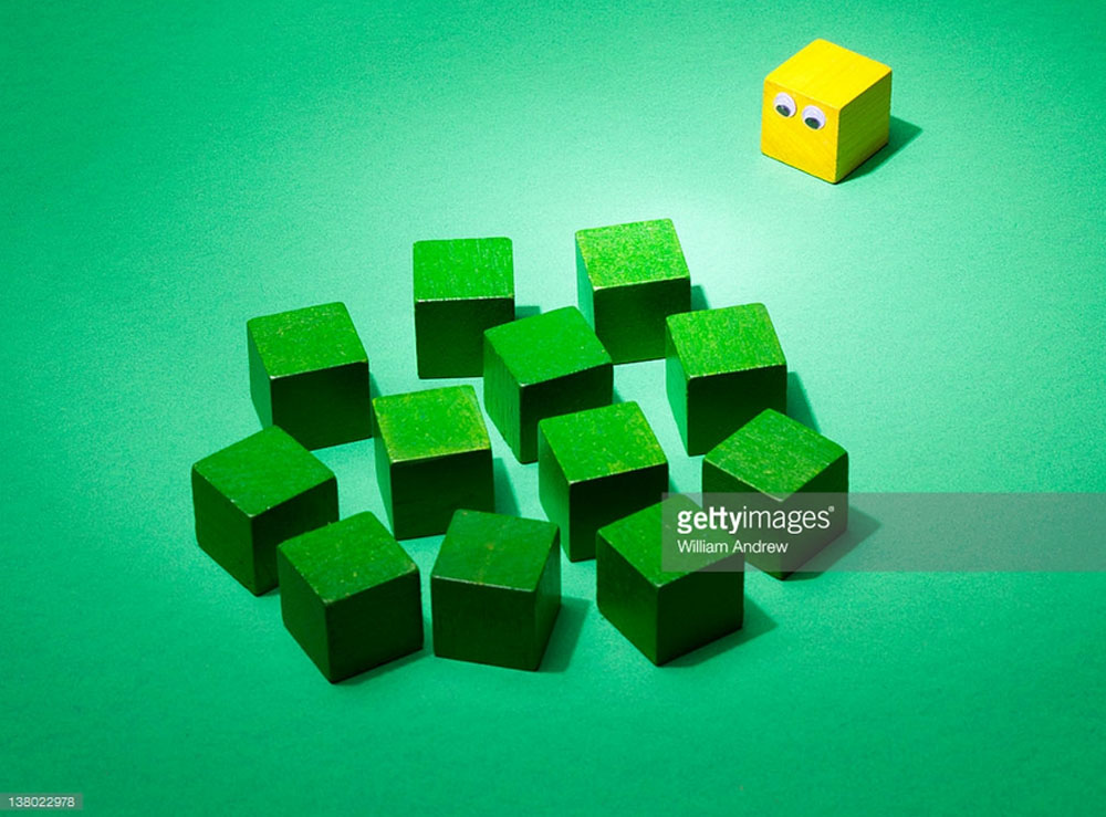 Single Cube Isolated from Crowd. Photo Credit: William Andrew -138022978. gettyimages.com. Why Being an INTJ Female is Great. Alwaysuttori.com