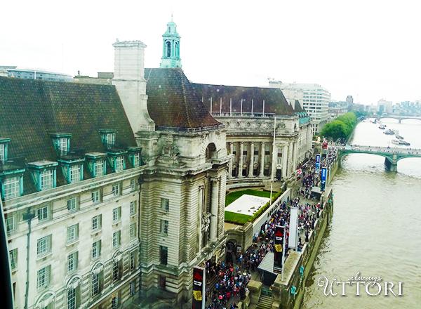 View-from-London-Eye - THe London Marriott County Hotel, 2014. Photo Credit: Always Uttori. London Calling: 3 days in London, Always Uttori Travel Diaries. Alwaysuttori.com