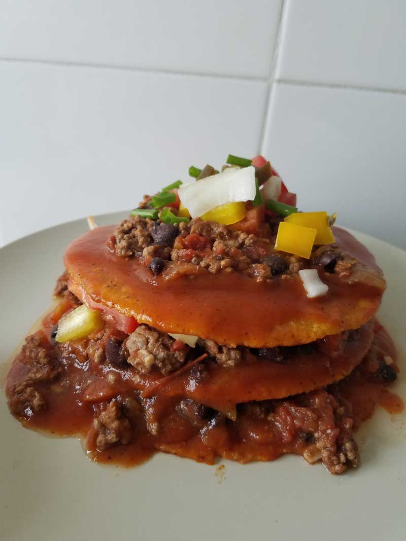 Stacked Enchiladas. Photo Credit: I'mari Avey. Always Uttori Food: Celebrates Cinco de Mayo with Stacked Enchiladas. Alwaysuttori.com
