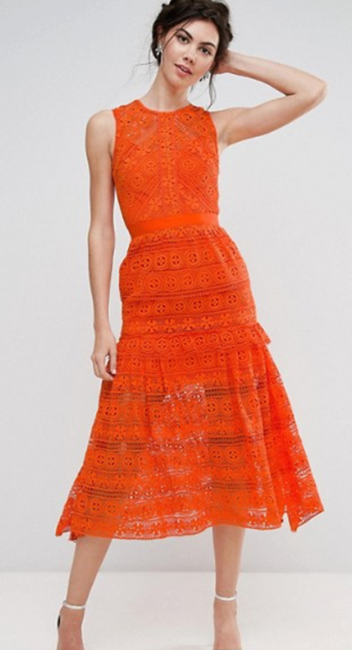 Lace Prom Dress Midi Skater Dress. Wedding Guest Fashion Guide for the 21st Century Girl. Alwaysuttori.com