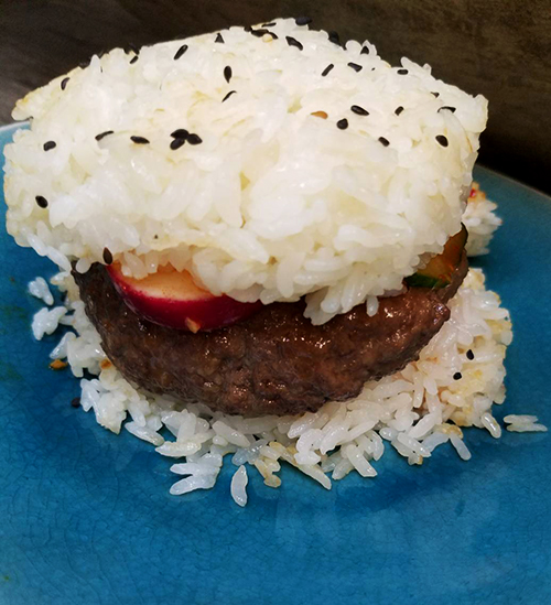 Kimbap Burgers. Photo Credit: I'mari Avey. 2018 Greetings, 2017 Staff Favorites, and Always Uttori Changes