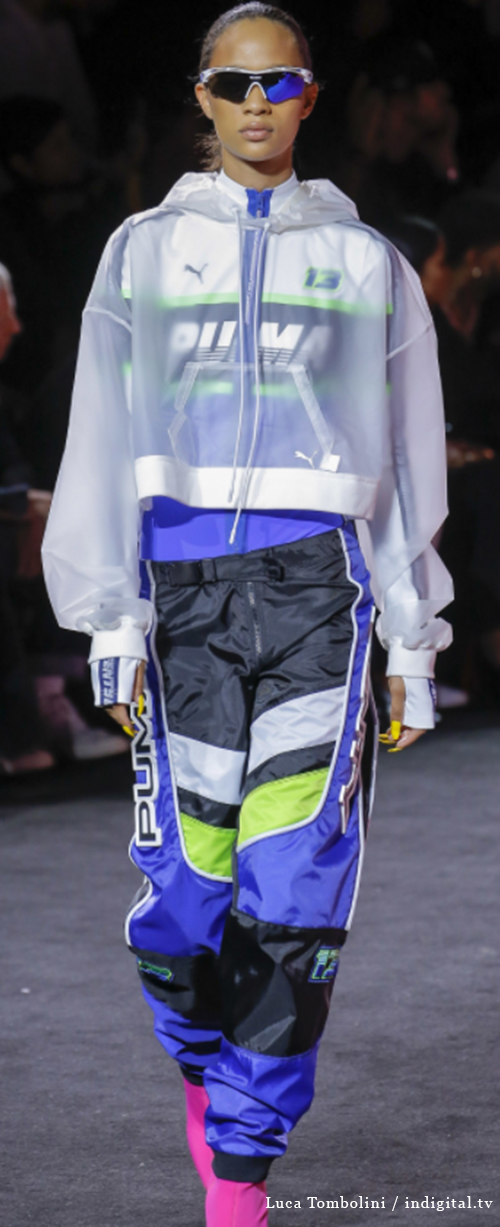 Fenty 8. Photo Credit: Luca Tombolini / indigital.tv via Vogue.com. Spring 2018 Athleisure Forecasts: Everything's Coming Up Fenty X Puma. Alwaysuttori.com
