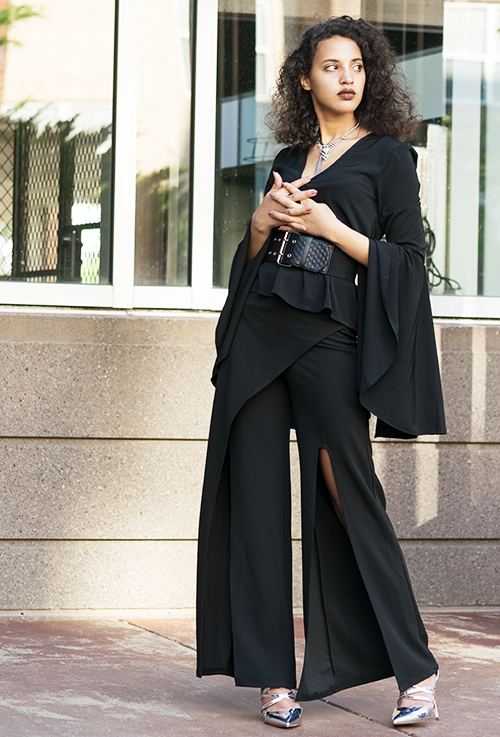 Black and Fab. Photo Credit: Mechelle Avey. Bring on the Drama October Fashion | Black and Fabulous. Alwaysuttori.com