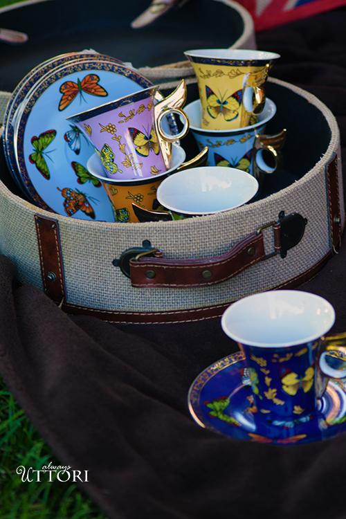 Tea Set. Photo Credit: Always Uttori. In Royal Fashion | The Modern Royal | Ruffed and Ready. Alwaysuttori.com.