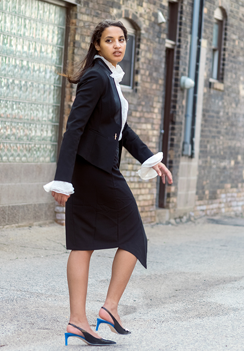 Boss Girl Style Look 1, P1. Photo Credit: Always Uttori. 5 Bossed Up Spring Transition Fashion Styles. Alwaysuttori.com