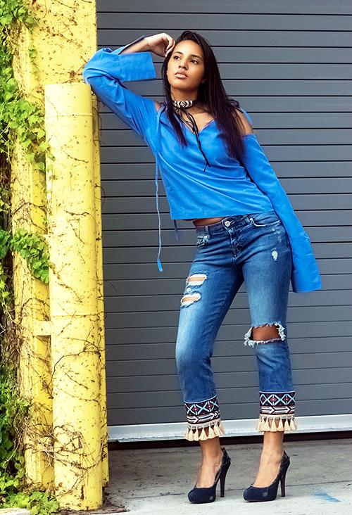 Tassle Bottom Jeans. Photo Credit: Always Uttori. Uttori Fashion: 3 Hip Jeans to Rock This Summer, Always Uttori.com.
