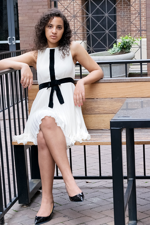 Dress with Bow. Photo Credit: Always Uttori. 3 Hot Summer White Outfit Inspo, Alwaysuttori.com.