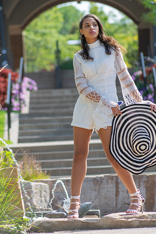 White Romper. Photo Credit: Always Uttori. 3 Hot Summer White Outfit Inspo, Alwaysuttori.com.