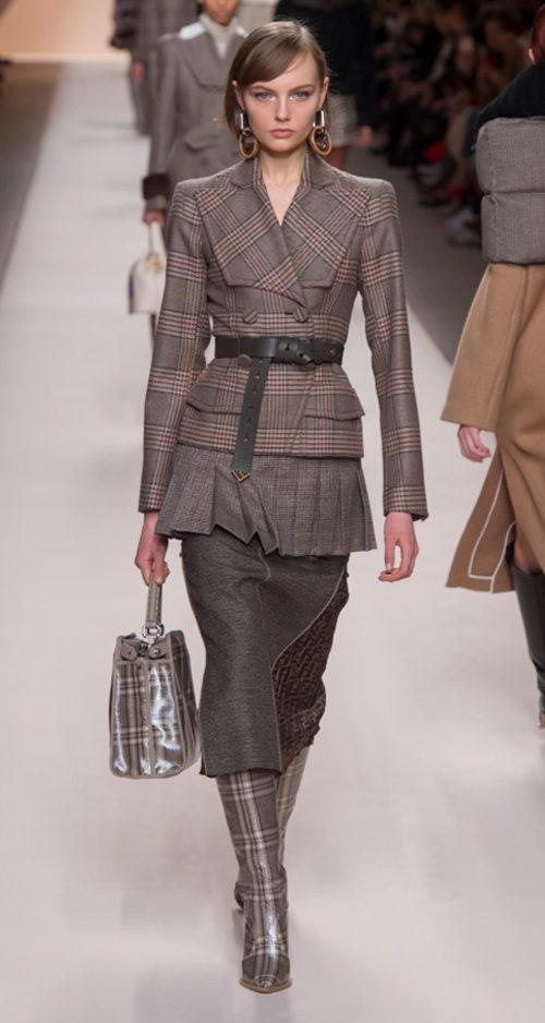 Fendi Fall 2018. Photo Credit: Kim Weston Arnold via Vogue.com. Fall Fashion Guide for INTJ Fashionistas. Alwaysuttori.com.