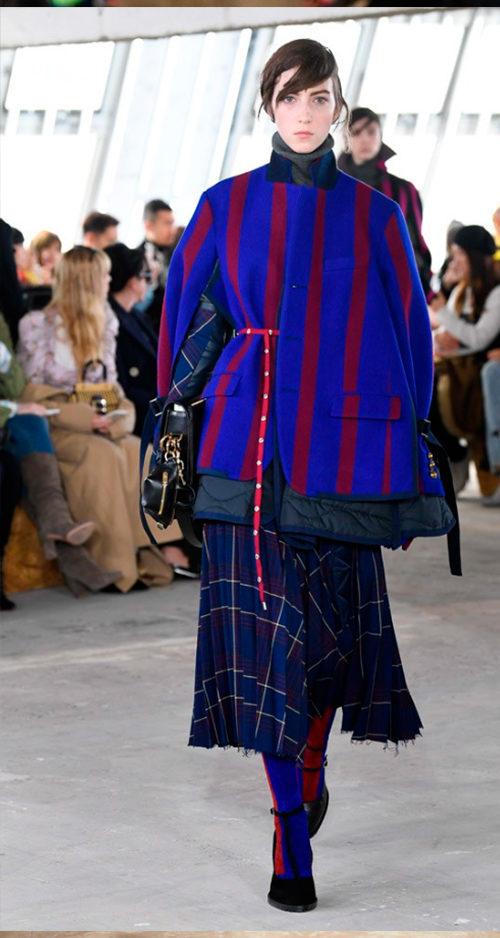 Sacai Fall 2018. Photo Credit: Yannis Vlamos via Vogue.com. Fall Fashion Guide for INTJ Fashionistas. Alwaysuttori.com.