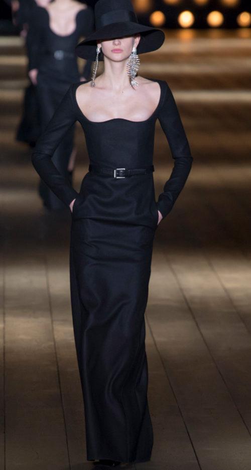 Saint Laurent Fall 2018. Photo Credit: Yannis Vlamos via Vogue.com. Fall Fashion Guide for INTJ Fashionistas